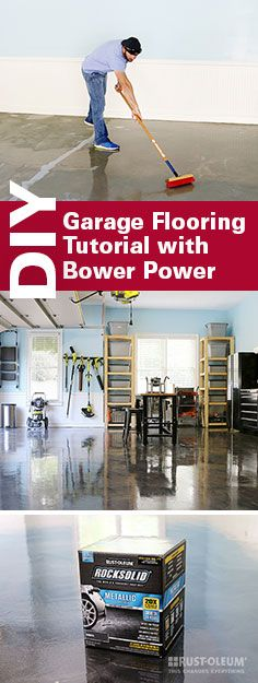 Check Out How Bower Power Transformed Their Garage With The RockSolid  Metallic Floor Coating Kit.