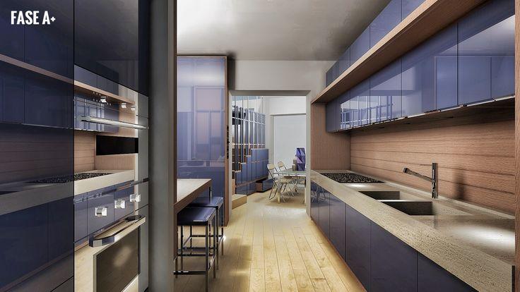 Studio in rendering per cucina
