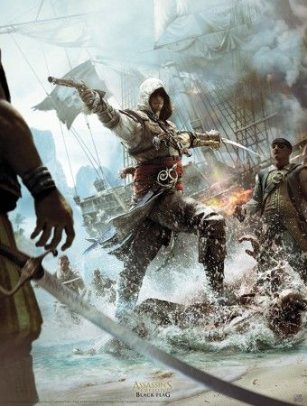 Poster affiche Assassin's Creed Black Flag Caraïbes