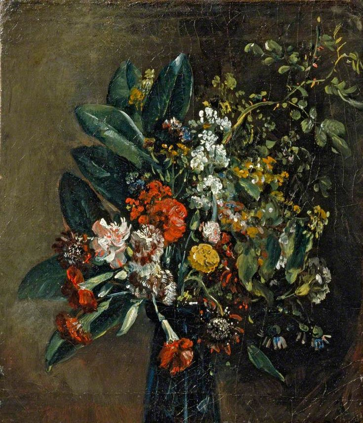 Study of Flowers in a Glass Vase (John Constable)