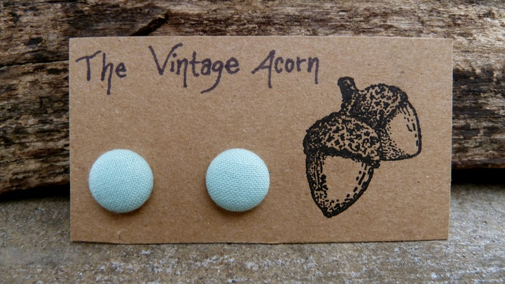 Mini Mint Button Earrings #thevintageacorn
