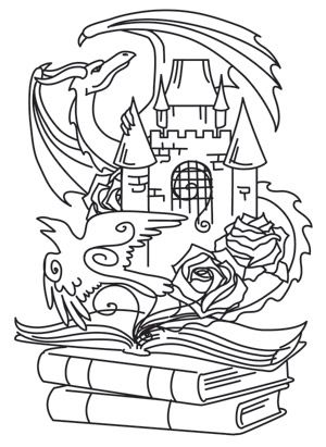 Coloring Page World Tomes Of Imagination Dragon