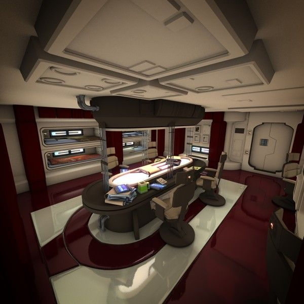 3d spaceship 2 hd - Spaceship Interior HD 2... by Dan Brown CGI