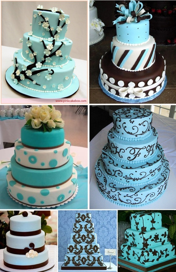love all the tiffany blue cakes and brown