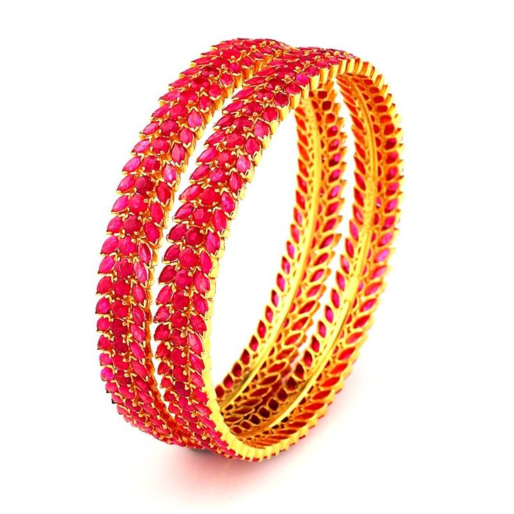 Ruby   South Indian Bridal Ruby Bangles   GRT Jewellers