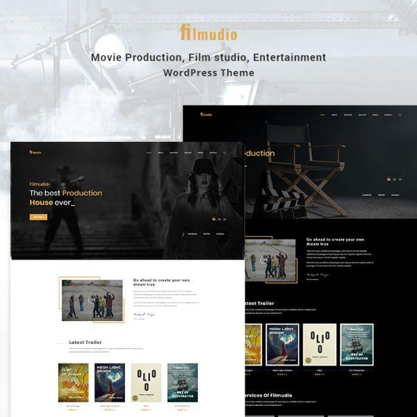 Filmudio - Movie Production, Film studio, Creative & Entertainment WordPress Theme #78401