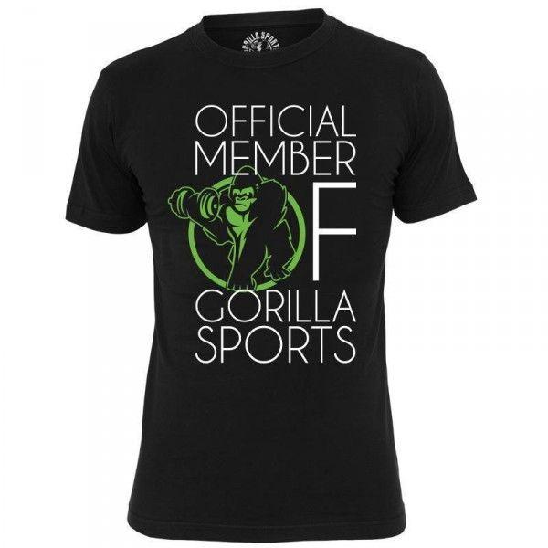 Virallinen Gorilla Sports jäsen T-paita, 19,95 €. Useita kokoja. #gorillasports #gorilla #tpaita #paita