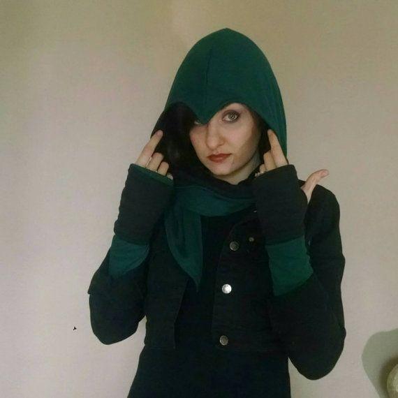 Hunter hoodie scarf by EitanyaDesigns on Etsy