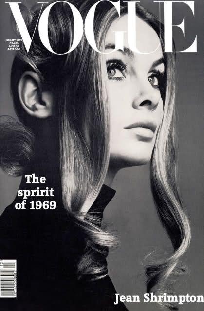 Jean Shrimpton, photo by Barry Lategan, Vogue US*
