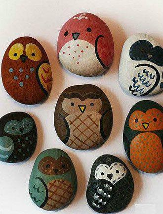 ไอเดียน่ารักๆ ศิลปะบนก้อนหิน เพ้นท์เป็นรูปสัตว์ต่างๆ