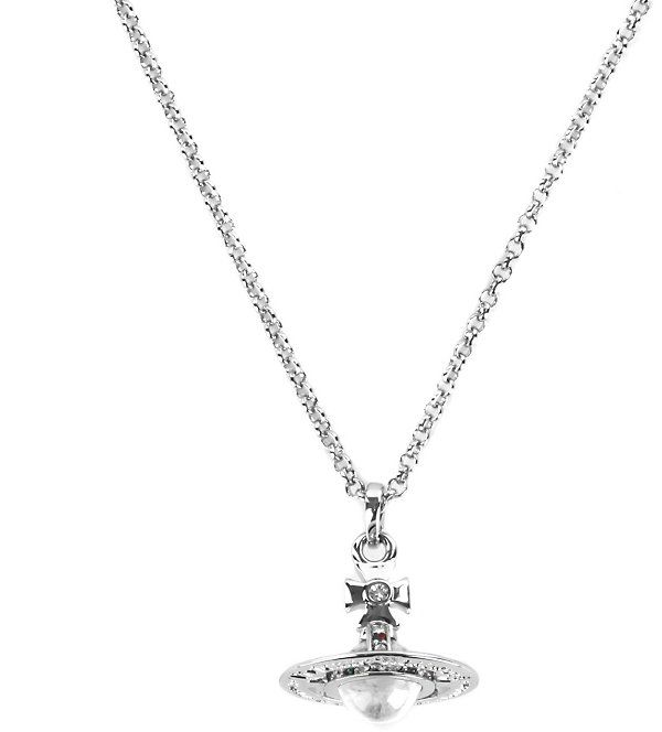 VIVIENNE WESTWOOD JEWELLERY Classic Tiny Orb pendant necklace (Silver