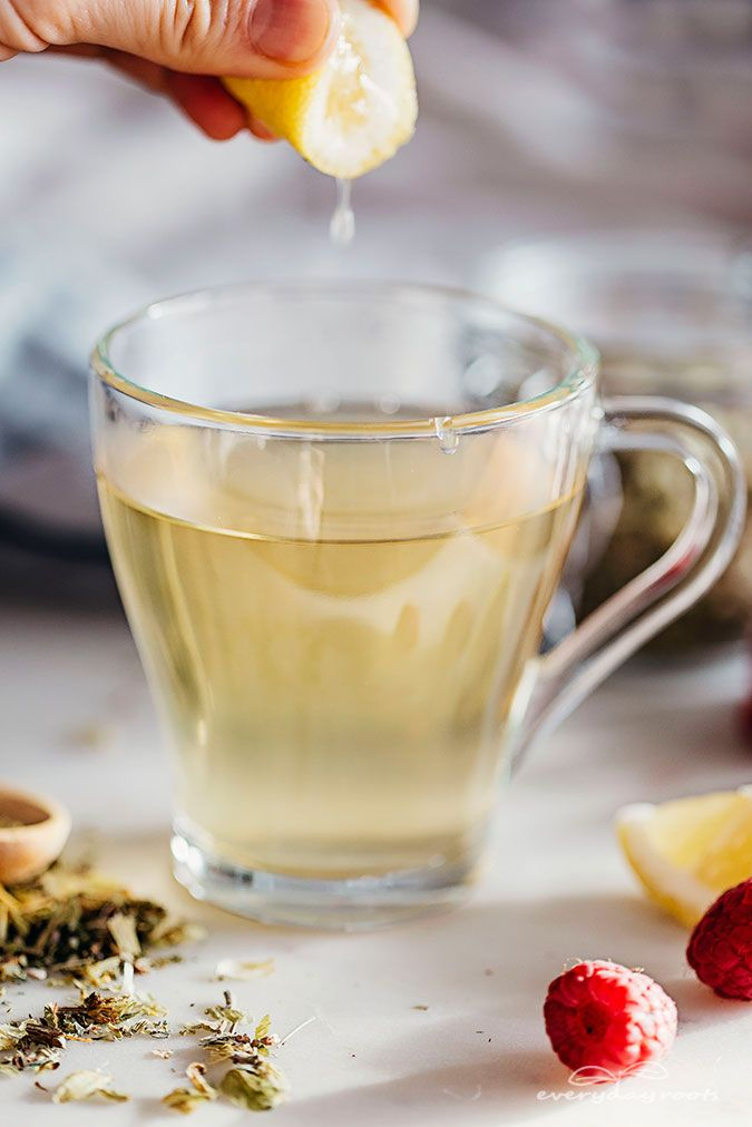 Raspberry leaf tea - this is great for menstrual cramps. They do sell raspberry tea bags.