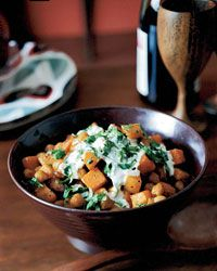 Curry-Roasted Butternut Squash and Chickpeas Recipe on Food & Wine