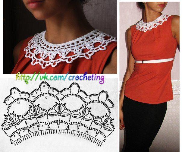 #crochet_collar from Elena Daniliuk official page - vk.com/crocheting