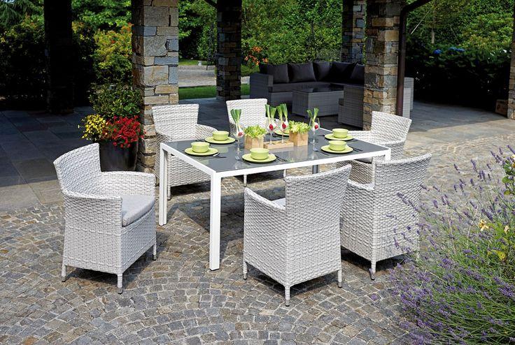 Dining Set Varigotti completo di tavolo a 6 posti e cuscini sfoderabili