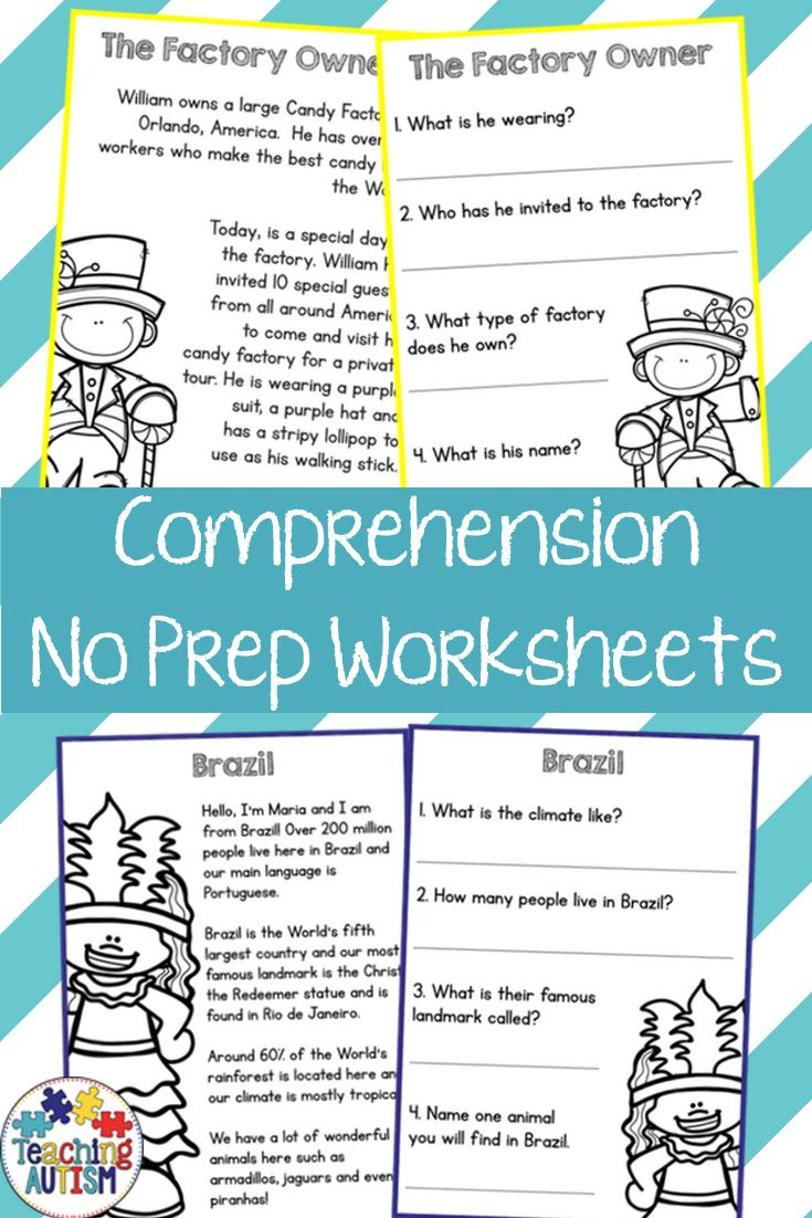 The 118 best Reading Comprehension images on Pinterest | Reading ...