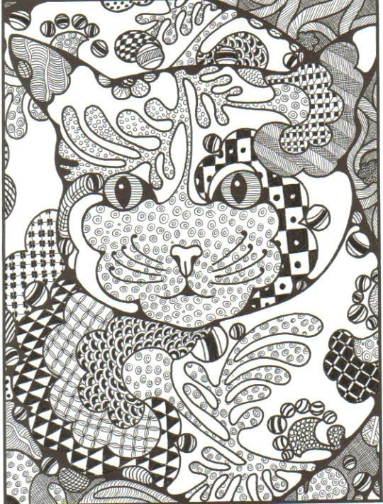 Zentangle Patterns Animals Zentangling