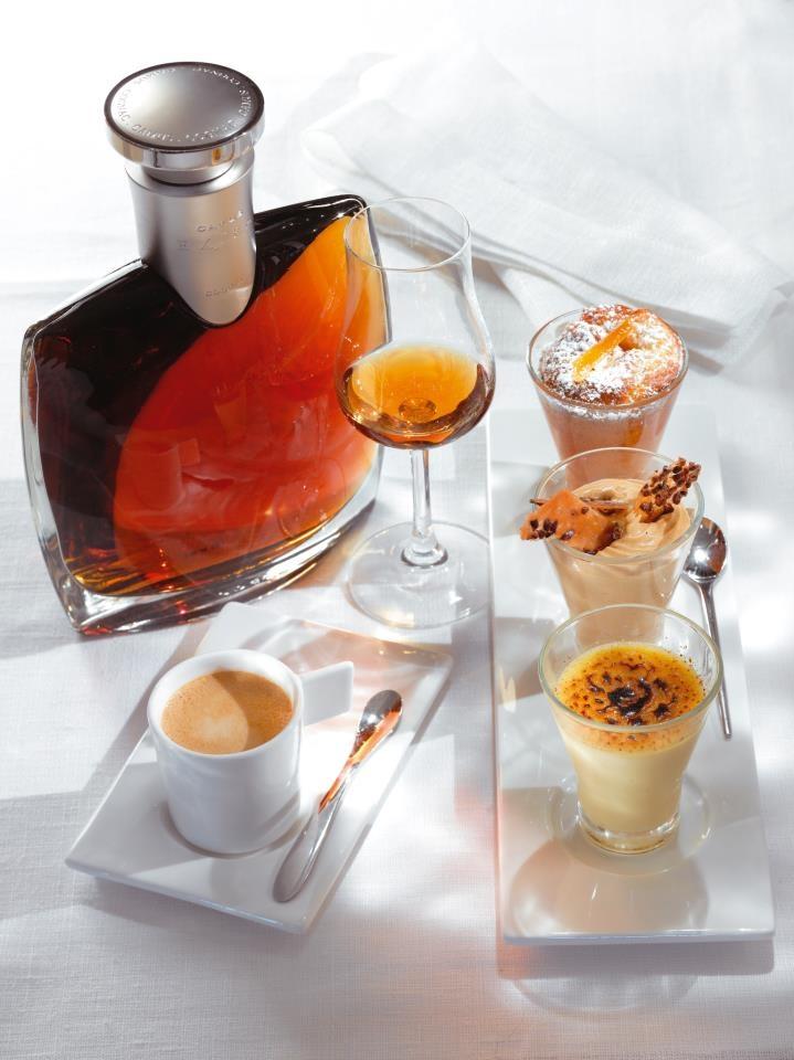 Camus cognac, espresso and dessert