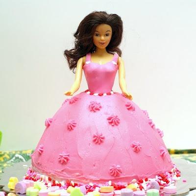 Princess Valentine Doll Cake