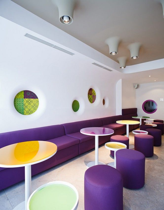 colorful cafe design - Shaker Cafe Ideas