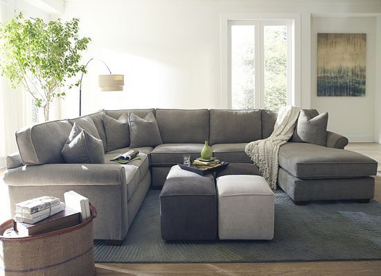 17 Best Ideas About Gray Sectional Sofas On Pinterest Grey Basement Furniture Neutral Living