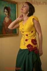 Мастер-класс по мокрому валянию: Блуза Маки