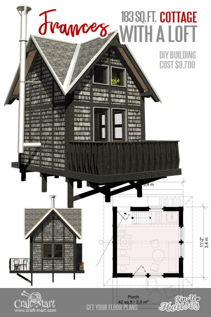 9 Adorable Tiny Home Plans And Designs For Fun Weekend Projects Micro House Plans Tiny House Plans House Plan With Loft
