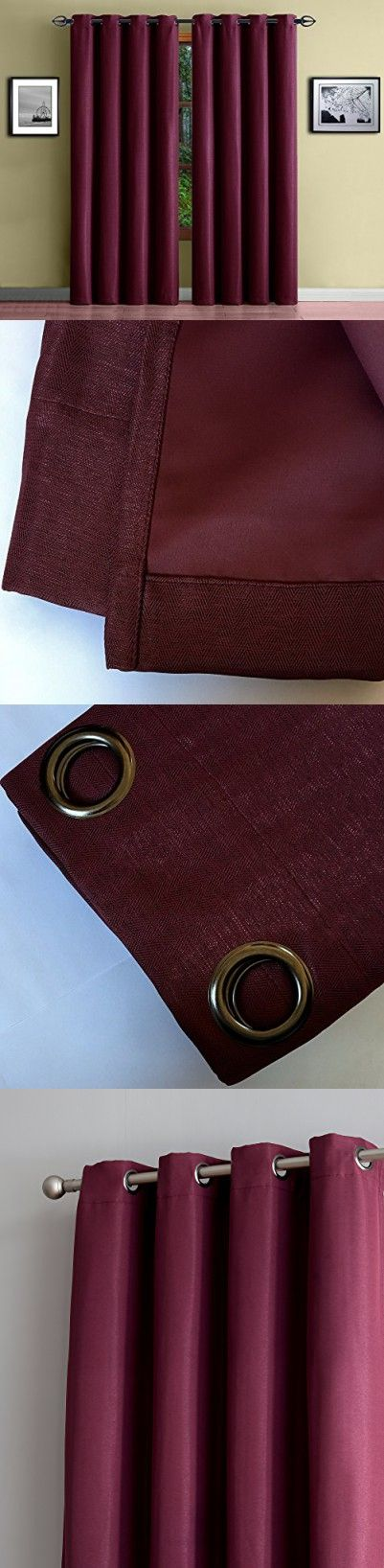 """Warm Home Designs 1 Panel of Burgundy Red Thermal Blackout Curtains with Grommets. Extra Wide, Energy Saving, Room Darkening Insulated Window Drapes are 54"""" X 96"""" Inches In Size. Burgundy 96"""