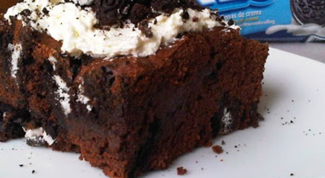 Oreo brownie met Marshmallow crème