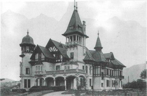 Bilbao, prolongación de la Gran Vía, palacete de Dámaso Escauriaza. Ca. 1890.