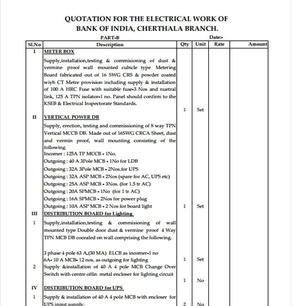 Image Result For Quotation Letter Electrical Work Electrical Work Quotation In Pdf Electrical Work In Pdf Quotations Quote Template Quotes About Photography