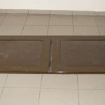 Tamplarie aluminiu si rulouri exterioare / Popesti Leordeni - trapa/usa pivnita aluminiu inchisa