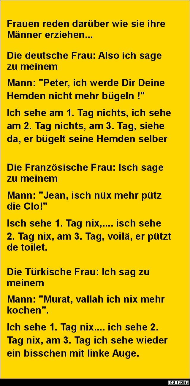 Frauen reden darüber wie sie ihre Männer erziehen... | DEBESTE.de, Lustige Bilder, Sprüche, Witze und Videos