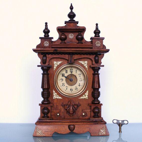 JUNGHANS MUSICAL ALARM Top Clock 1910s Antique German ...