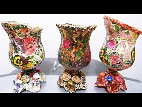 Artesanato : Reciclagem com garrafa PET #1 - YouTube