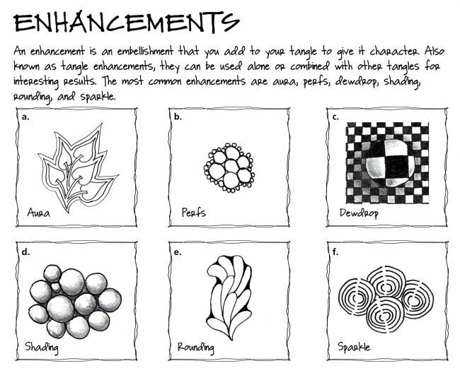 Zentangle enhancements
