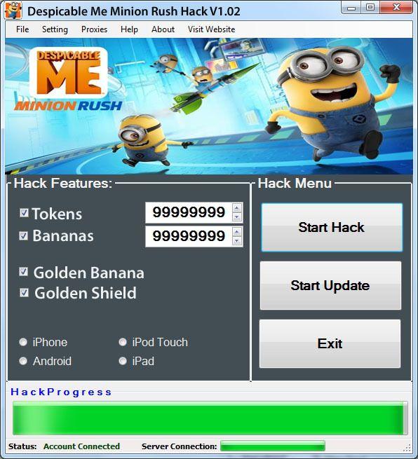 Minion Rush Hack for Android, iOS, Windows and Mac | Minion rush ...