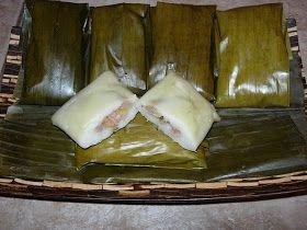 Nagasari--plantain/banana wrapped in flour pudding and banana leaves.