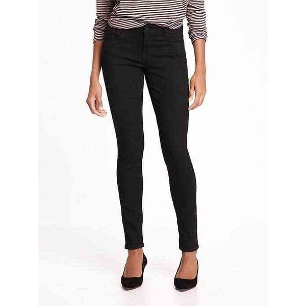 Old Navy Womens Low Rise Rockstar Jeans ($17) ❤ liked on Polyvore featuring jeans, black, petite, petite skinny jeans, low rise jeans, old navy skinny jeans, tall skinny jeans and low rise jeggings