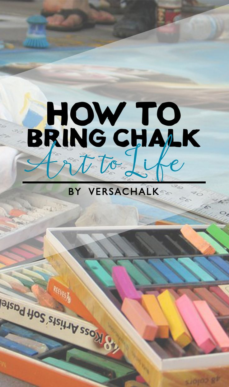 Tips on how to bring chalk art to life using chalk markers
