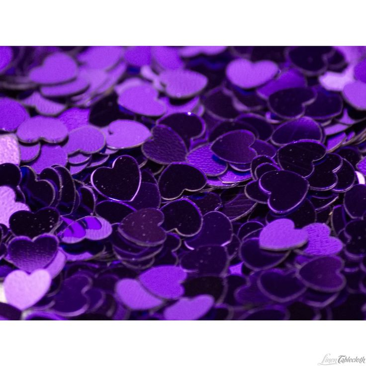 purple themed bridal shower%0A purple foil heart shaped confetti for weddings and special events at  LinenTablecloth  Add confetti to your list of party or wedding theme  enhancers