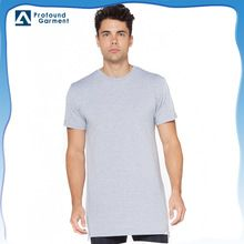 Custom men's 100% cotton blank tall dri fit t shirt  long line high quality t shirt with side   best buy follow this link http://shopingayo.space
