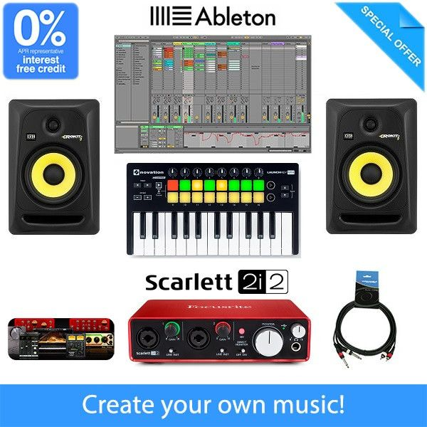 Beginner Home Studio Music Production Equipment Package