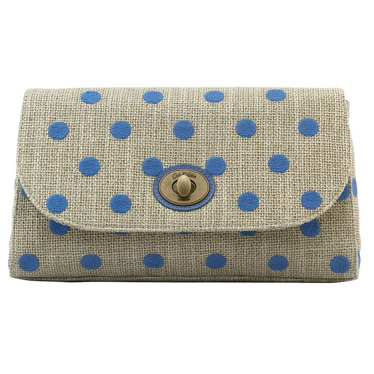 Button Spot Embroidered Clutch   Cath Kidston  