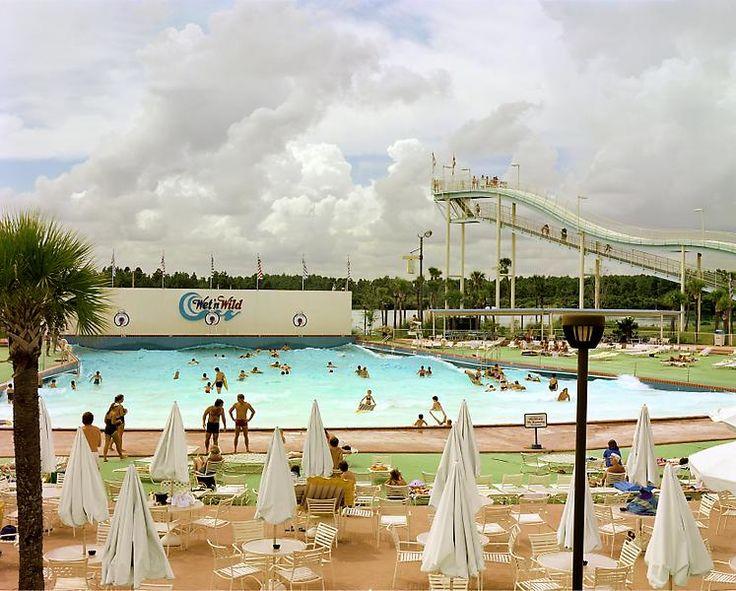 Joel Sternfeld  Wet n' Wild Aquatic Theme Park, Orlando, Florida, September 1980  from American Prospect
