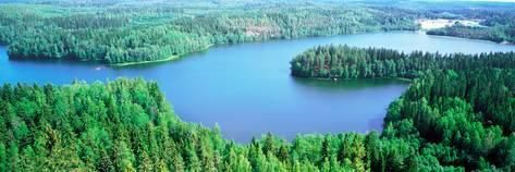 Photographic Print: Lakes and Forest Aerial View A…