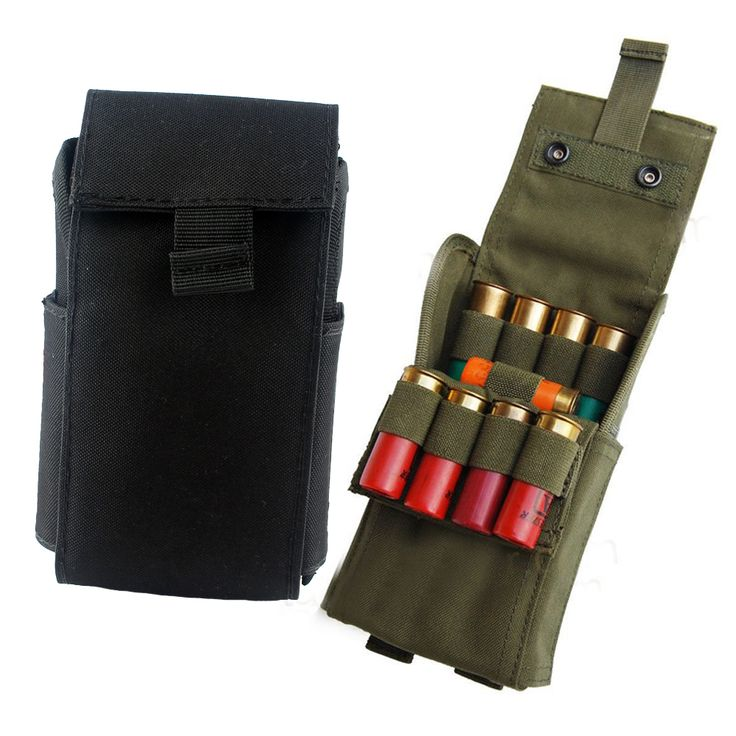 Molle 25 Round 12GA 12 Gauge Ammo Shells Shotgun Reload Magazine Pouches Magazine Bag Hunting Ammo bag