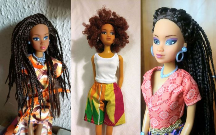 """Queens of Africa have been a popular doll maker amongst young Nigerian girls. But in 2014, they outsold Mattel, the makers of Barbie ... specialise in Barbie-like dolls that reflect the African race. But what sets them further apart is how they aren't just another 'black girl doll', but embrace the aesthetic diversity within the black community, which is typically umbrella'd under one generic look ...founded back in 2007"" (2016). Via Queen of Africa N.A."