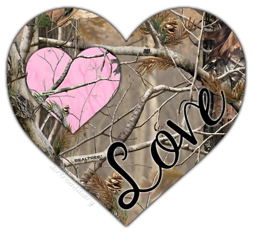 This is a cute camo picture! Feel the country love!