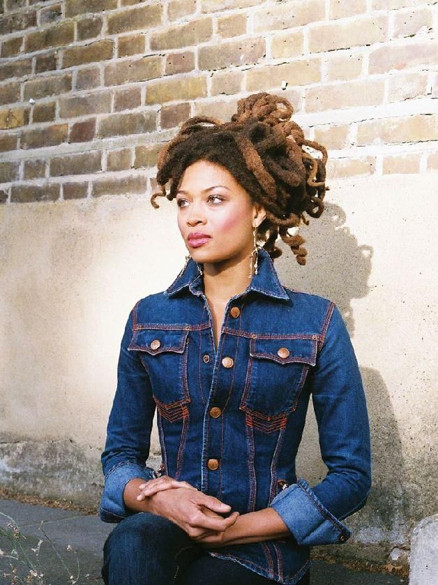 Valerie June and double denim inspiration. AND HAIR.